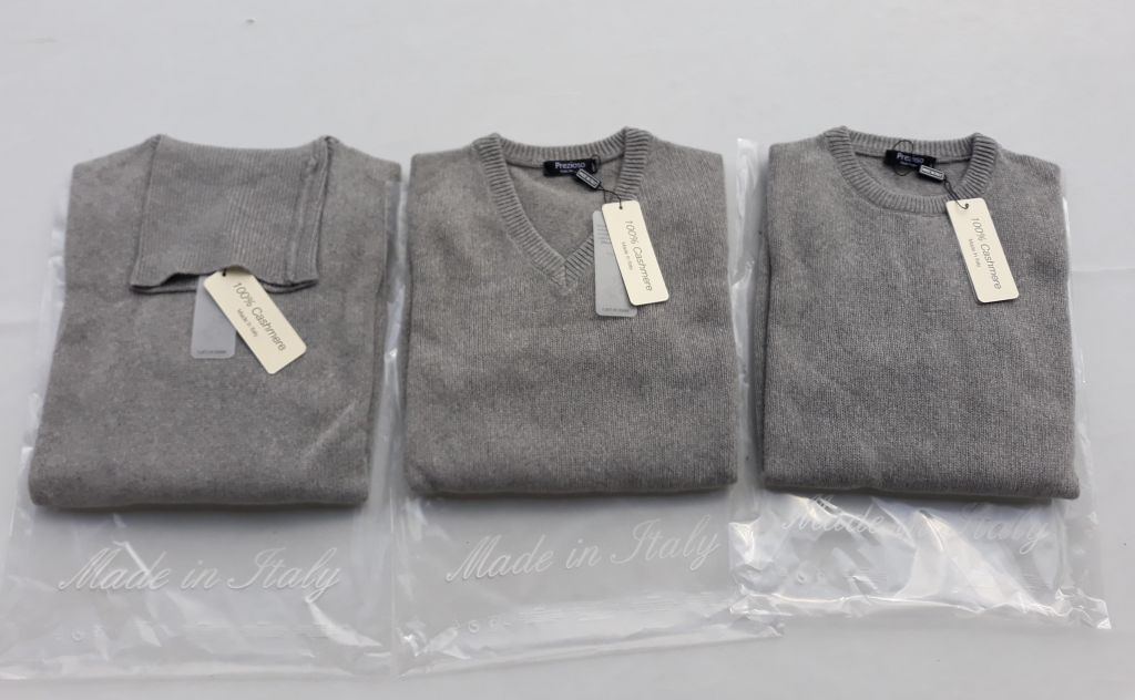 New arrivals of the 100% Cashmere Men's Knitwear production