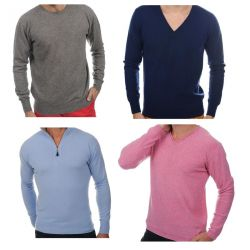 Sweaters MAN pure cashmere 100% regenerated