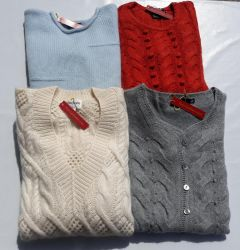 """Knittwear 100% cashmere """"thick yarn"""" WOMAN 20 pieces"""