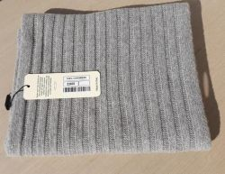 Scarf 100% cashmere ribbed