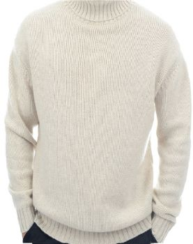 "Men's knitwear 100% pure cashmere ""Thick yarn"" Made In Italy 