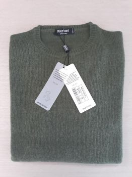 frau pullover 100% kaschmir moosgrün rundhalsausschnitt Made in Italy | großhandel