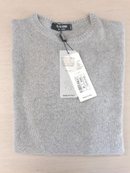 women's knitwear 100% cashmere pearl crewneck Made In Italy | wholesale