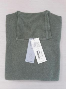women's knitwear 100% cashmere moss green turtleneck Made In Italy   wholesale
