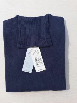 maglieria donna 100% cashmere blu dolcevita Made In Italy | ingrosso
