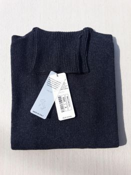 women's knitwear 100% cashmere anthracite turtleneck Made In Italy | wholesale